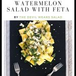 Yellow Watermelon Salad with Feta