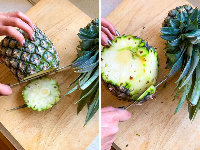 How to core a pineapple properly. Step by step tutorial.