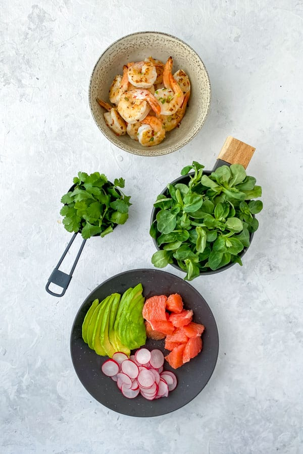 Gin and Lime Prawn Salad with Avocado