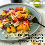 Tropical Mango Salad with Coconut Flakes