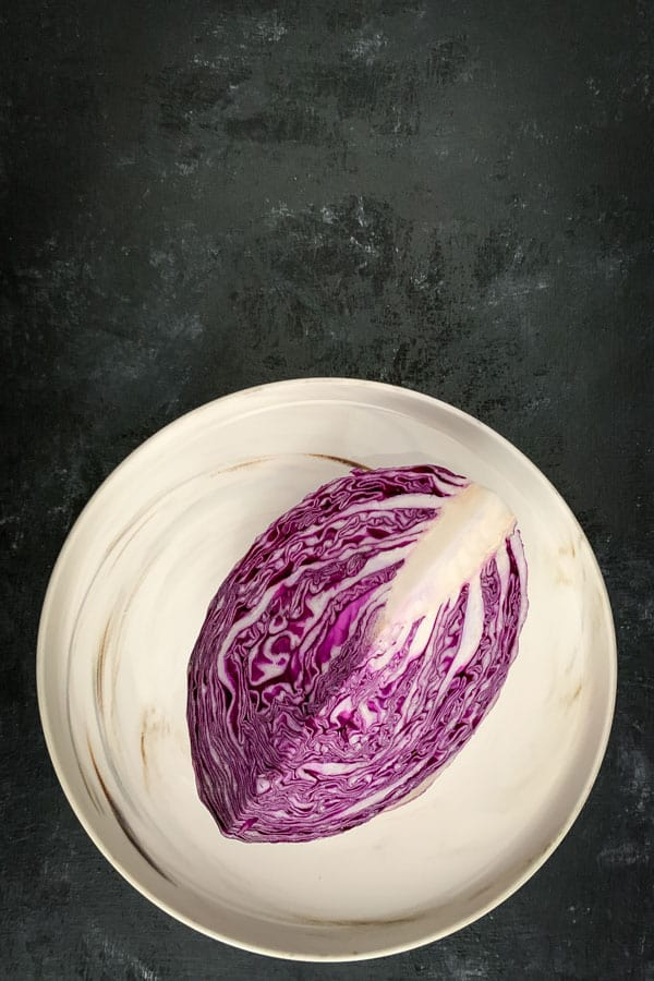 Quarter of a red cabbage