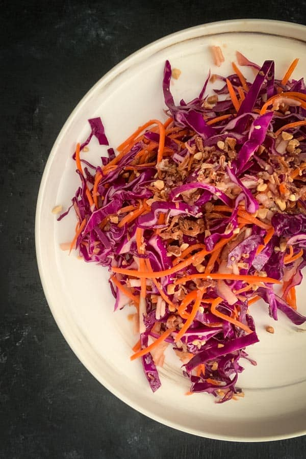 Vegan Coleslaw with Pear and Carrot