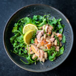 Miso Cannellini Bean Salad with Salmon