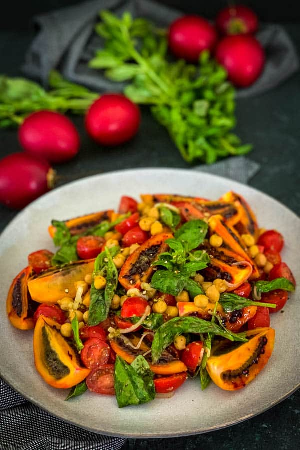 Red Tamarillo Salad with Basil