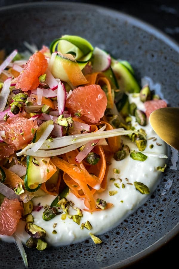 Salad with Courgette, Carrot and Fennel