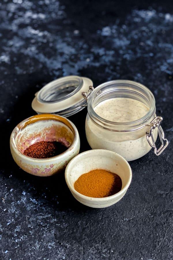 Spiced Yoghurt Dressing with Honey