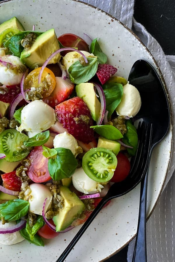 Bocconcini Salad with Caper Vinaigrette