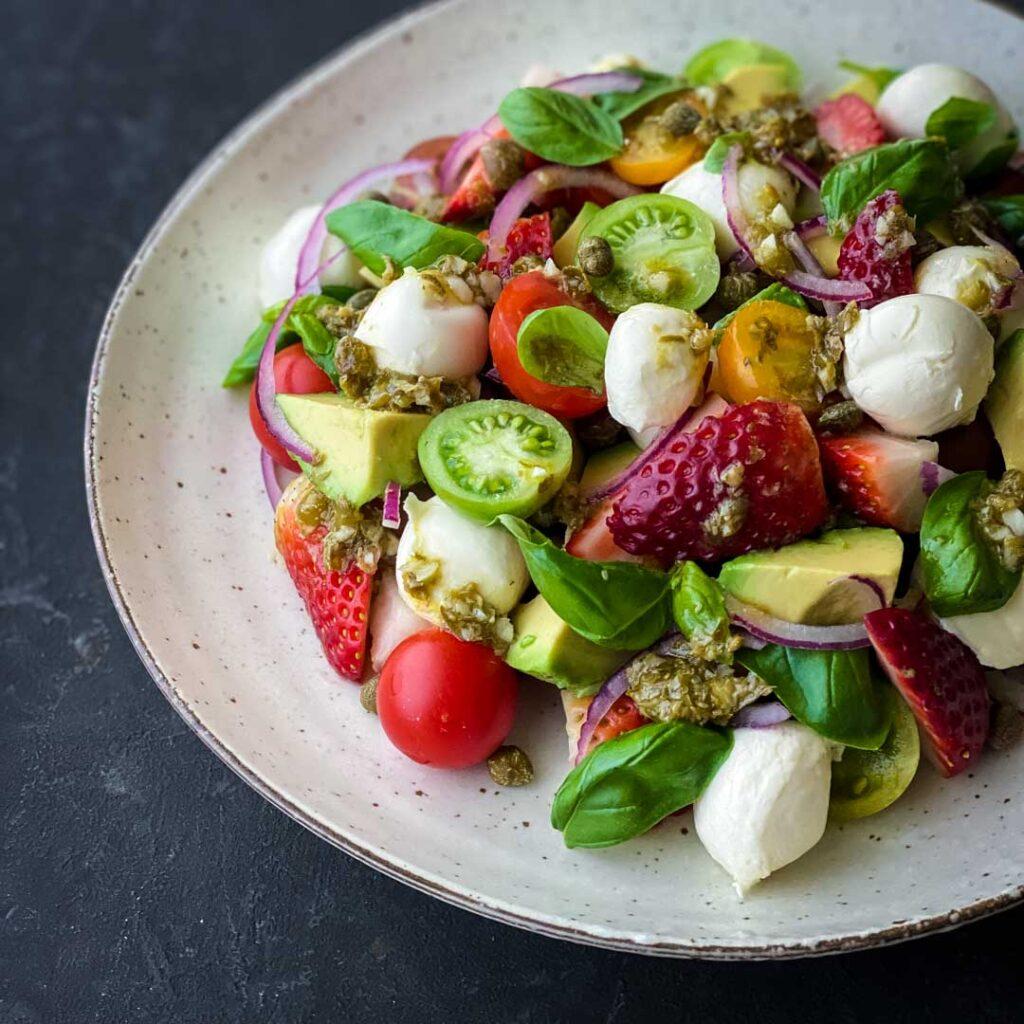 Bocconcini Salad with Caper Vinaigrette