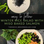 Winter Rice Salad with Miso Baked Salmon