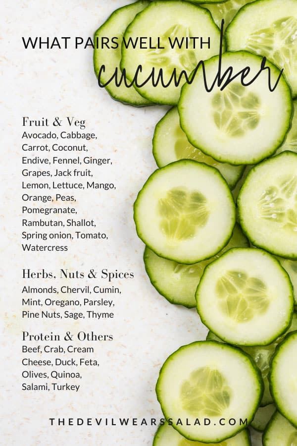 What Goes Well with Cucumber