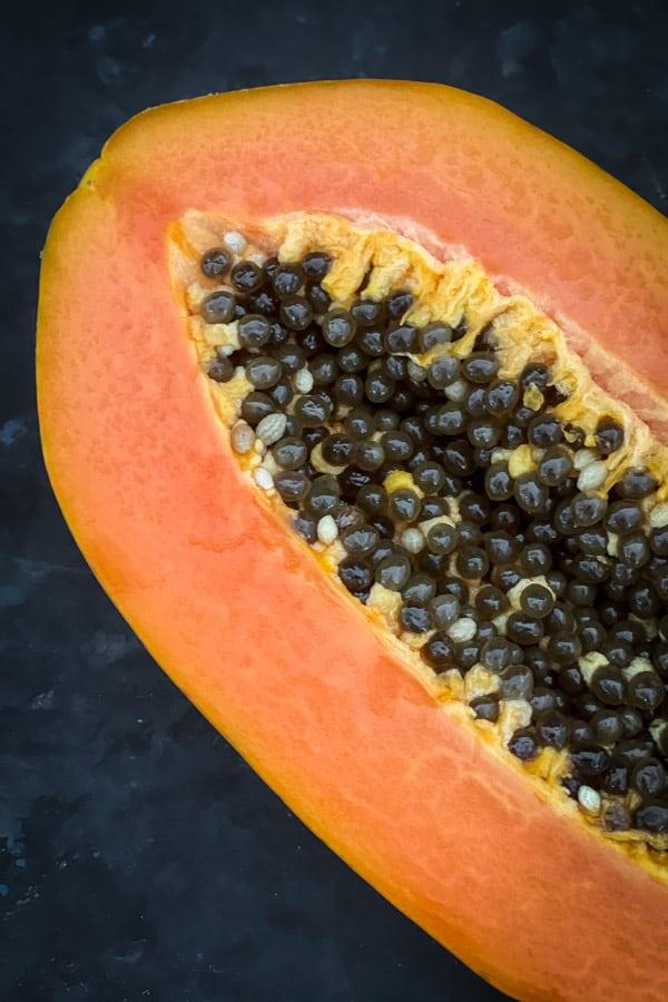 Half red papaya