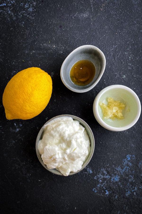 Honey Garlic Yoghurt Dressing Ingredients