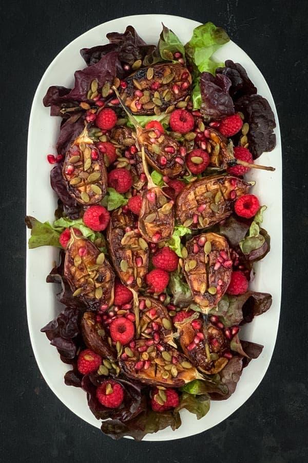Roasted Tamarind Eggplant Salad
