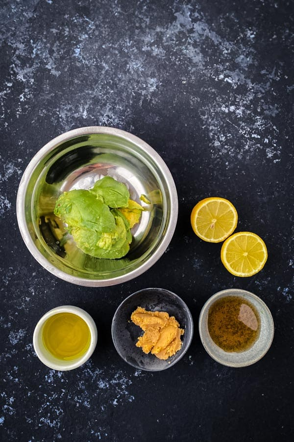 Miso avocado dressing ingredients