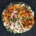 Curried Vegan Cauliflower Steak Salad