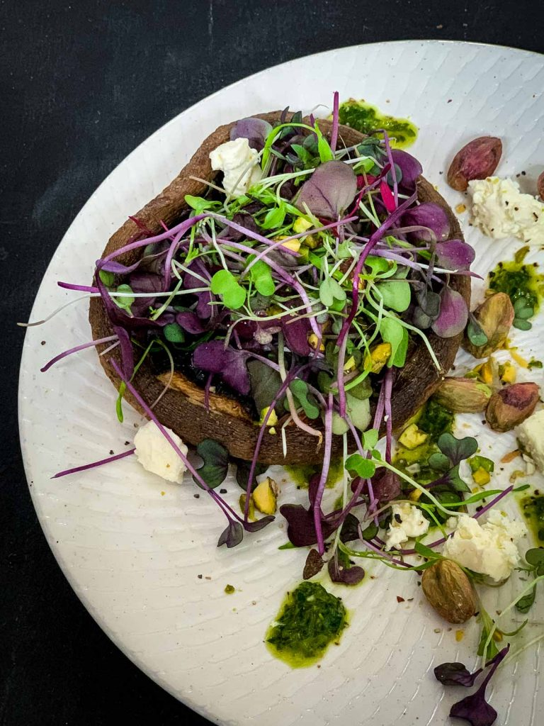 Baked Portobello Mushroom Salad