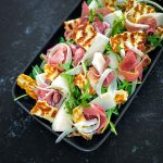 Canary Melon Salad with Halloumi