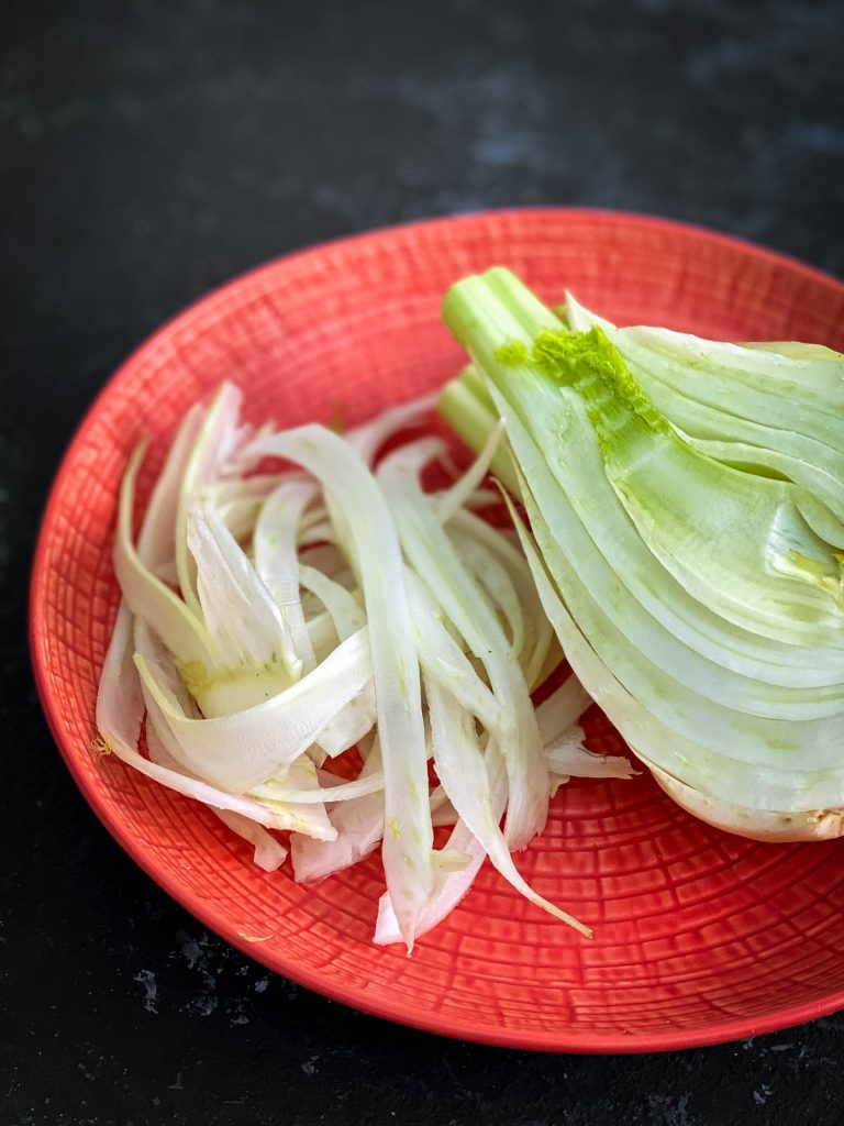 Half and shaved fennel