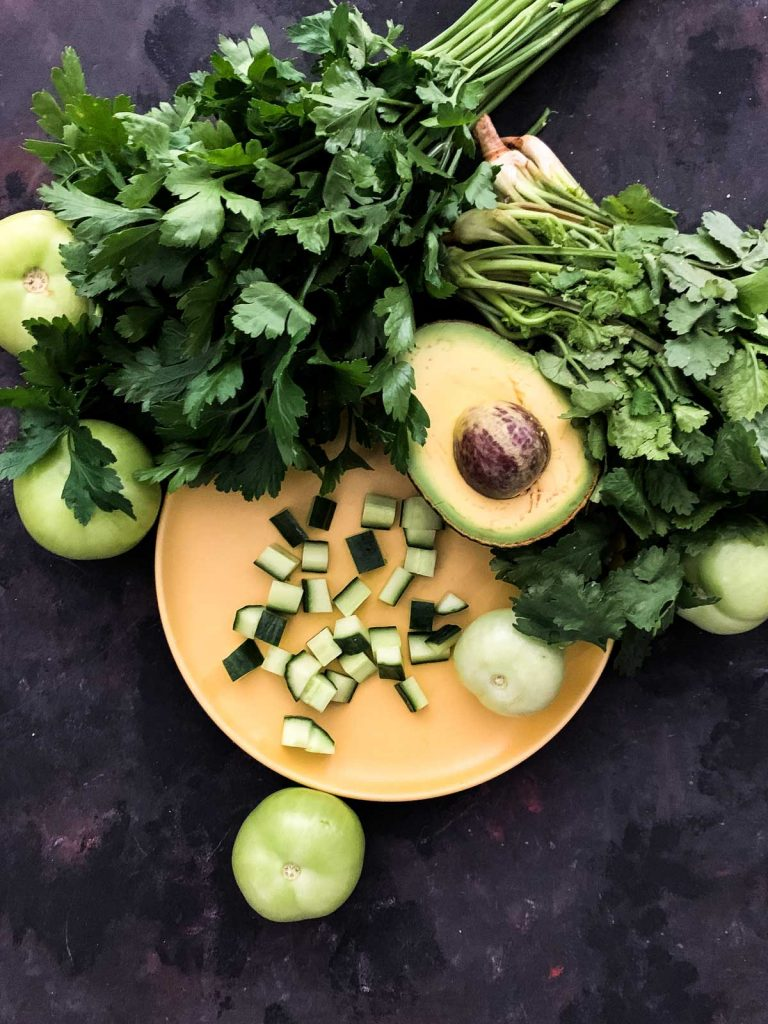 Cilantro Chimichurri Prawn Salad Ingredients