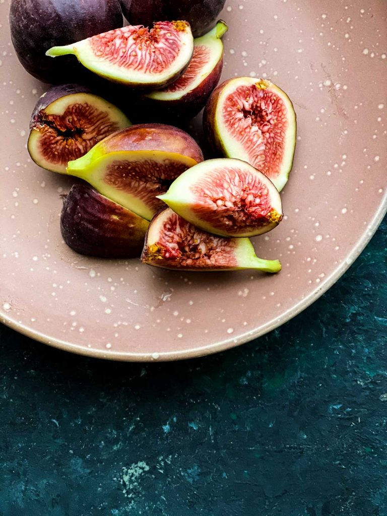 Fresh figs cut into wedges