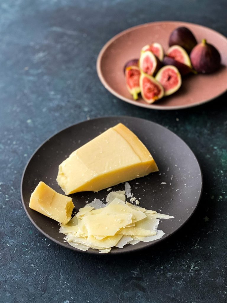 Shaved parmesan and fresh figs