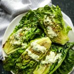 Grilled Little Gem Salad with Tahini Ranch Dressing