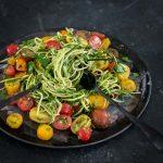 Vegan Zucchini Noodle Salad with Pesto