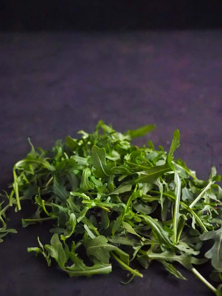 arugula or rocket leaves