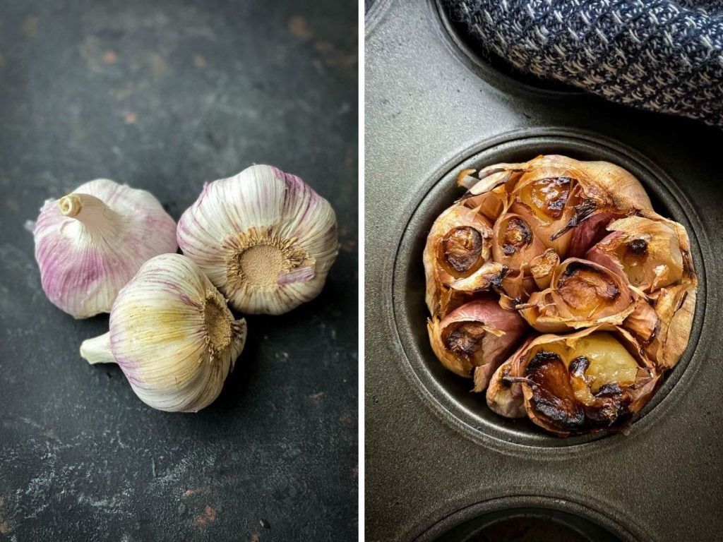 Garlic and whole roasted garlic