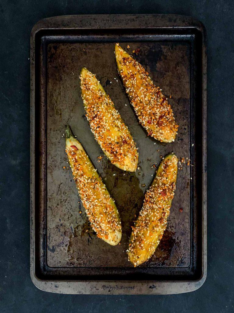 Dukkah Eggplant Baked Slices