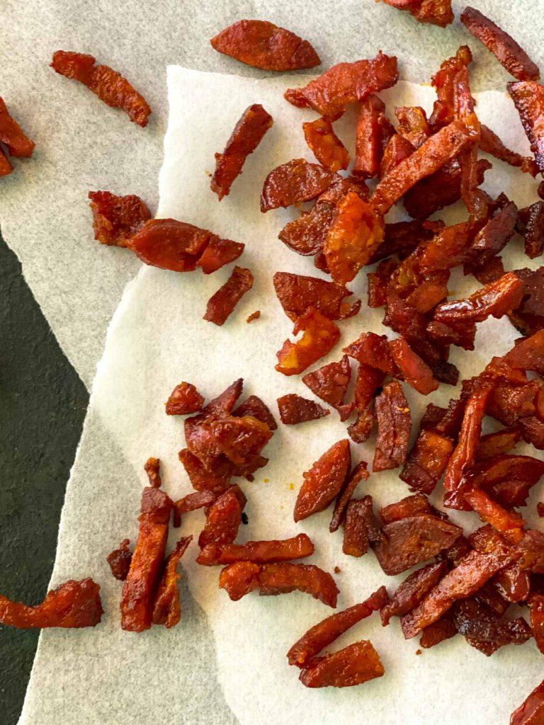 Crispy baked chorizo bites