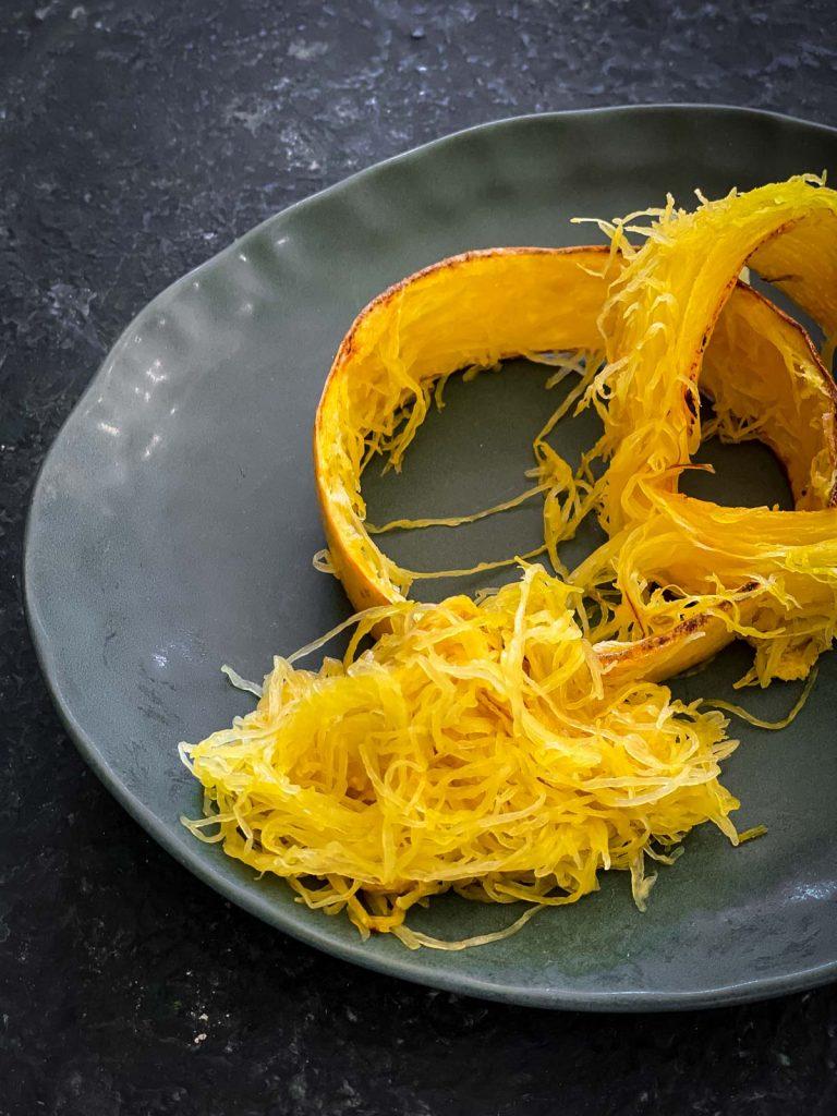 Baked spaghetti squash strands