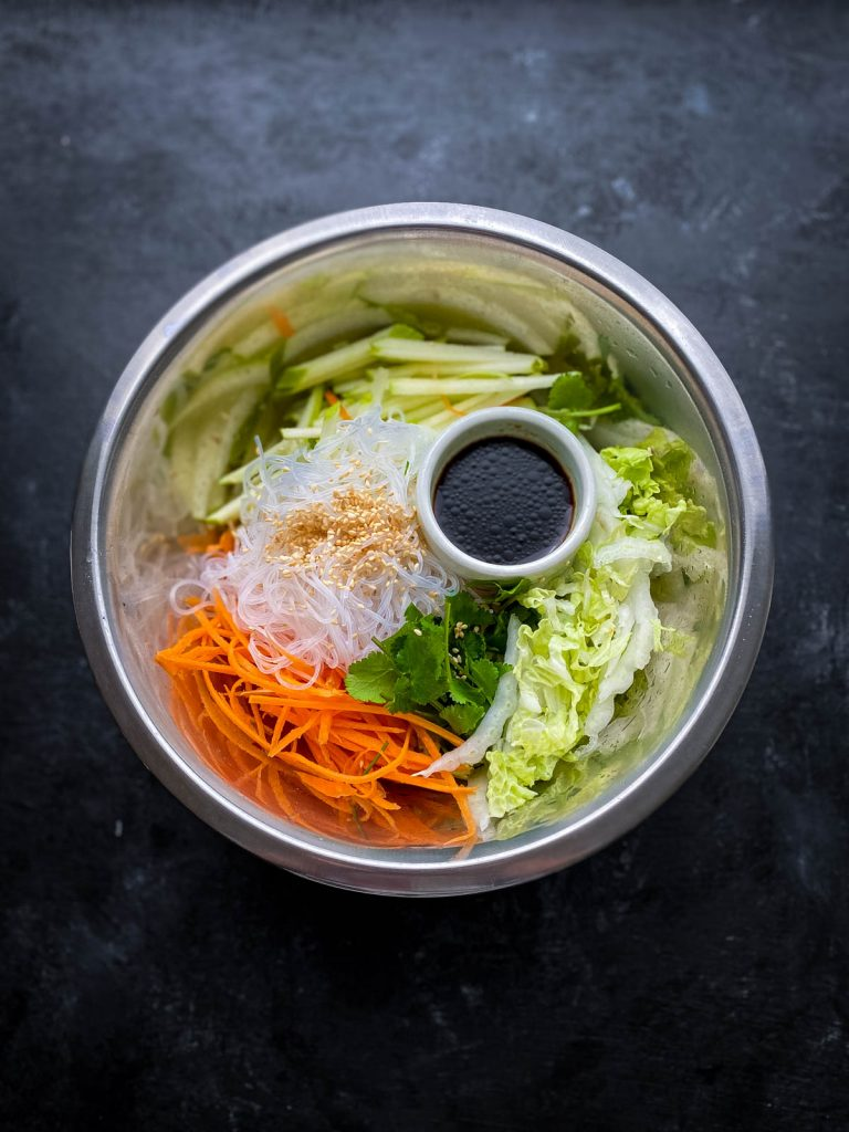 Glass Noodle Salad with Sticky Tofu Ingredients