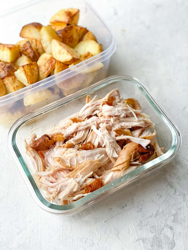 Leftover chicken and roast potatoes