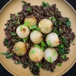 Puy Lentil Salad with Warm Pickled Onions