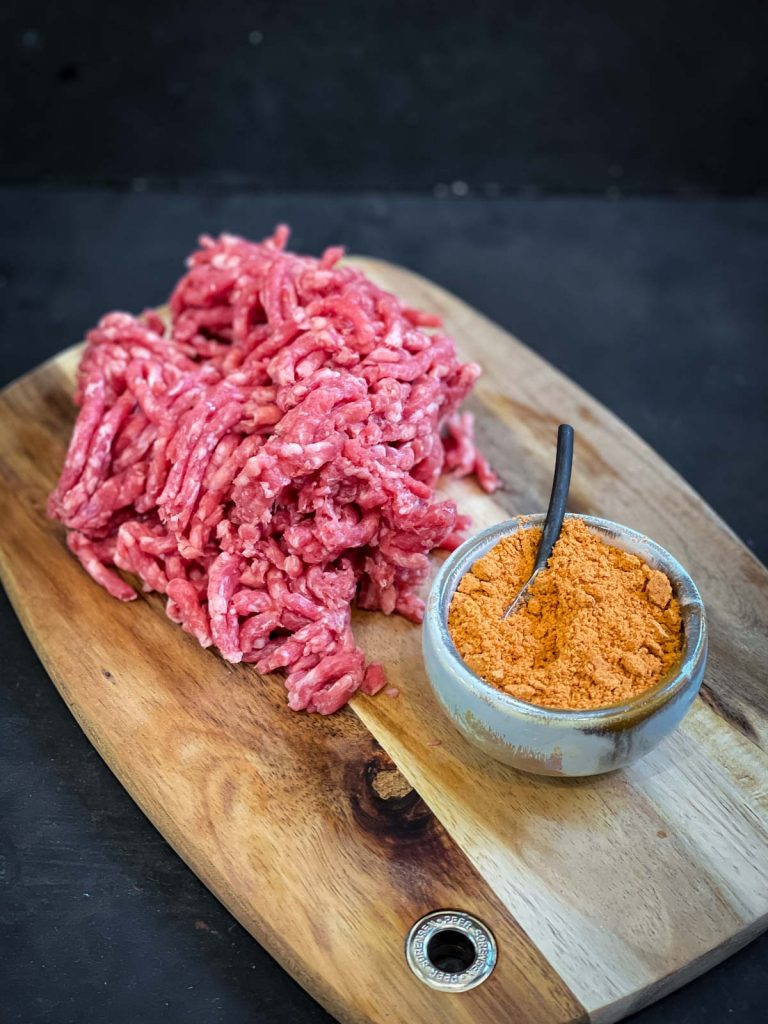 Beef mi nce and taco seasoning