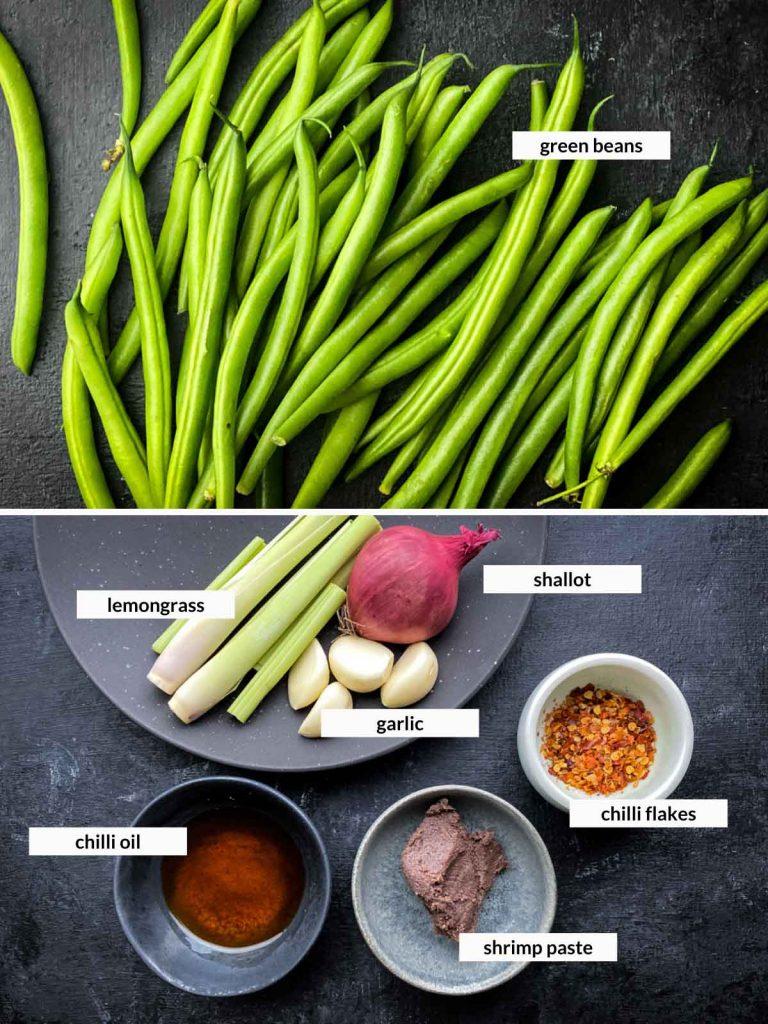 Lemongrass Chilli Green Beans Stir Fry Ingredients
