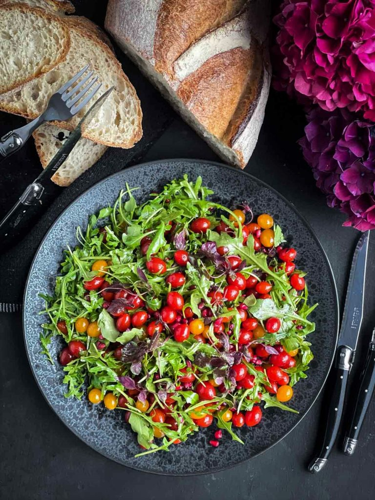 Tomberry Salad with Pomegranate