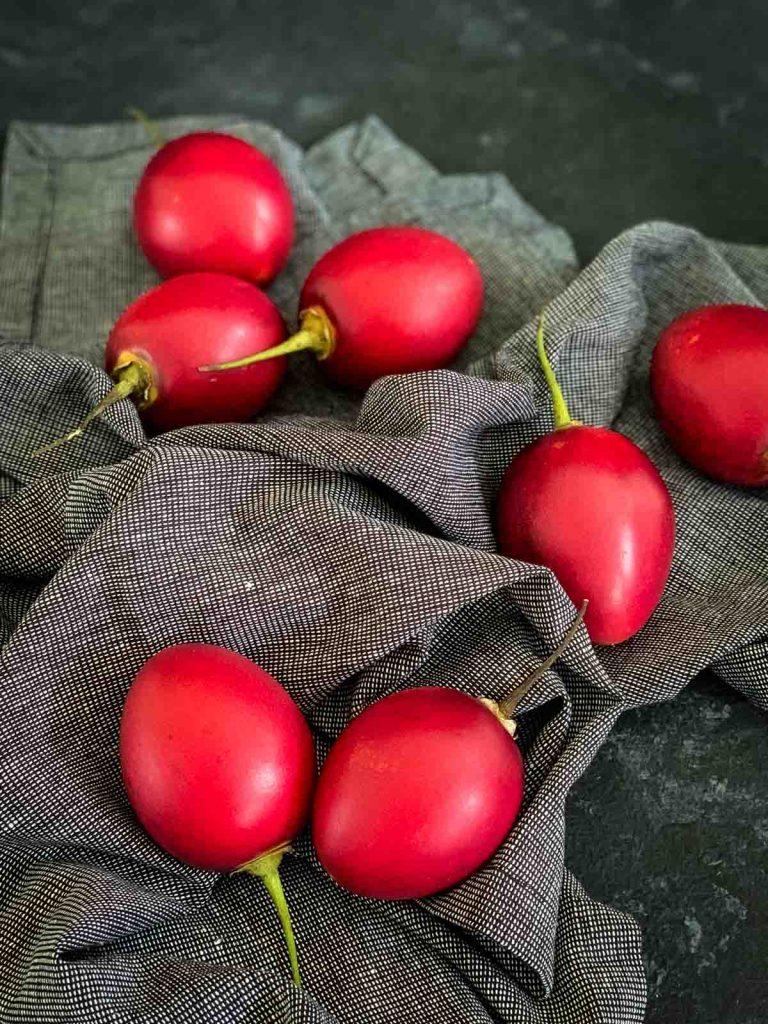 Whole tree tomatoes or tamarillos.