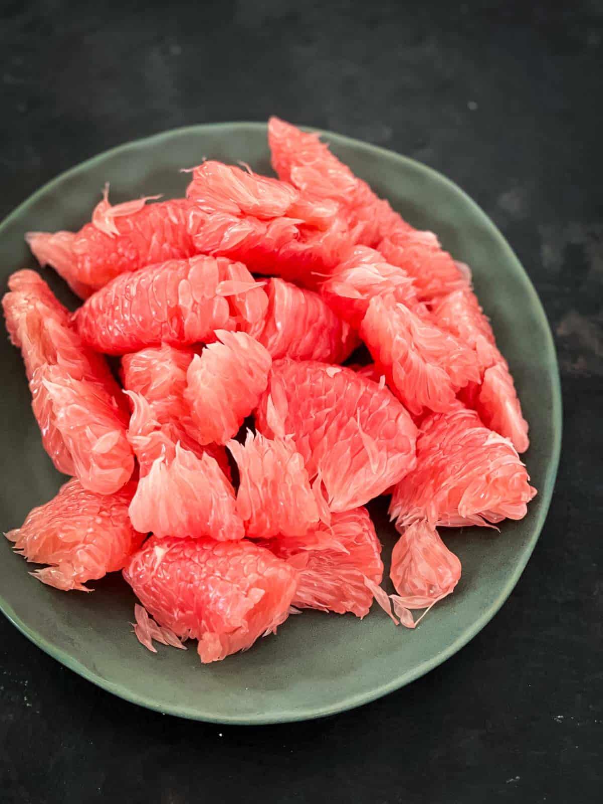 Red pomelo flesh