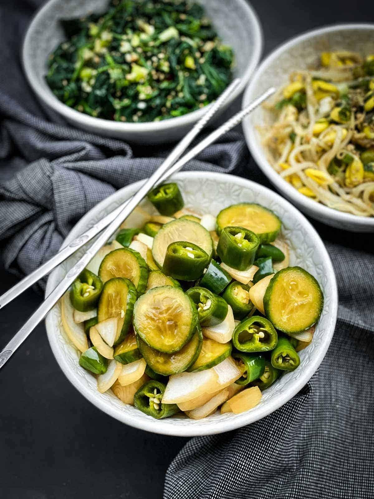 Korean Pickles in Soy Sauce - Jangajji