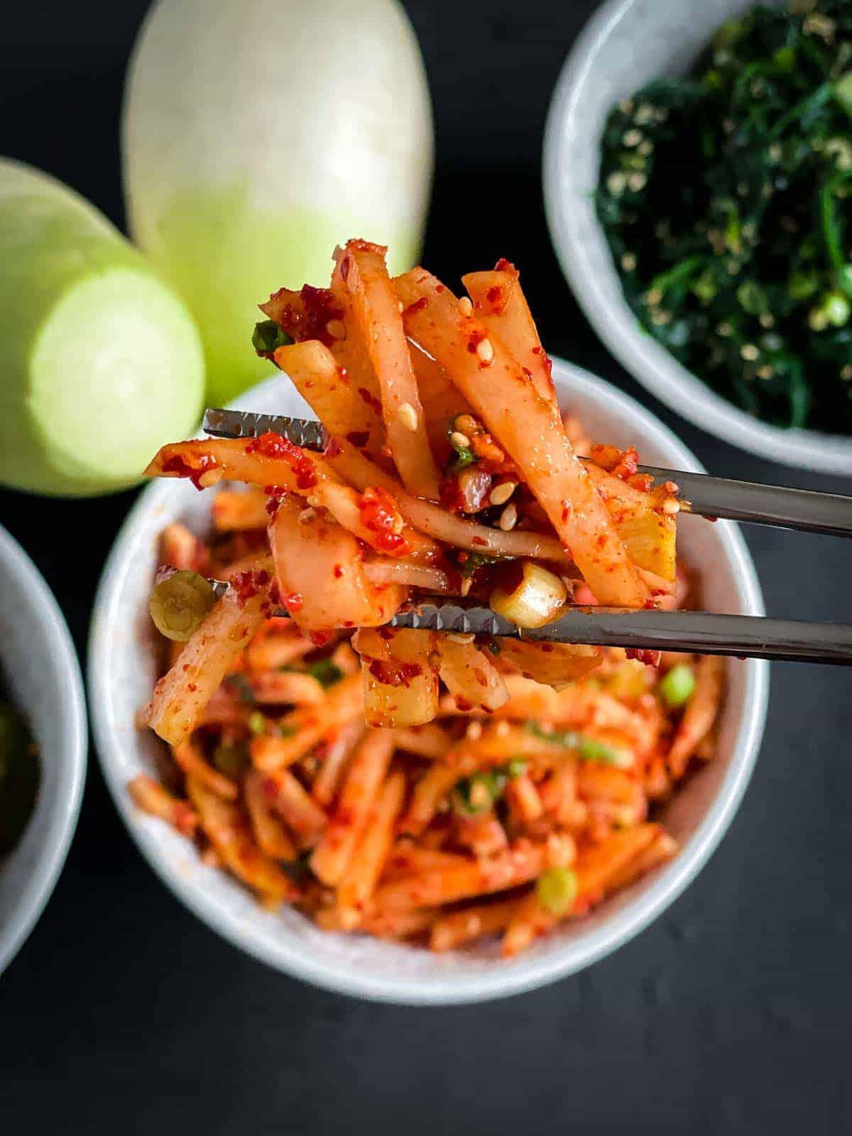 Korean Radish Salad - Musaengchae