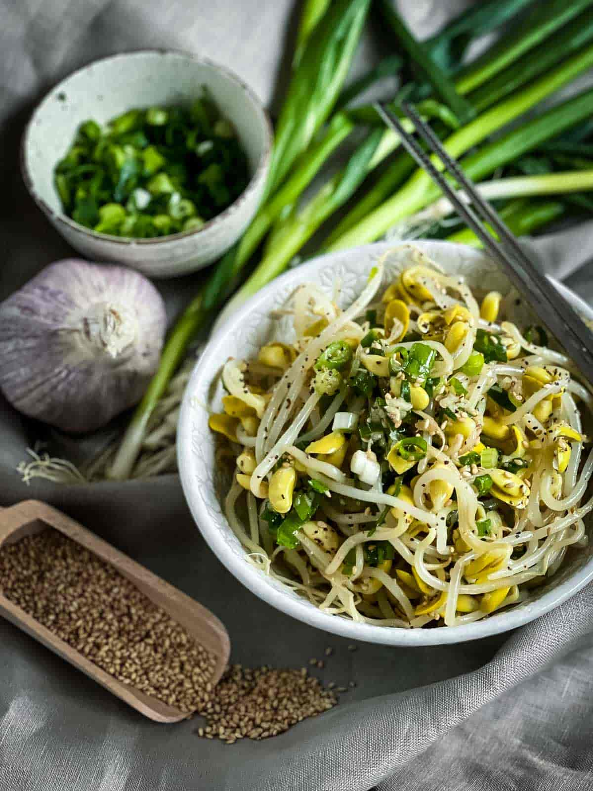 Korean Soybean Sprout Side Dish - Kongnamul Muchim