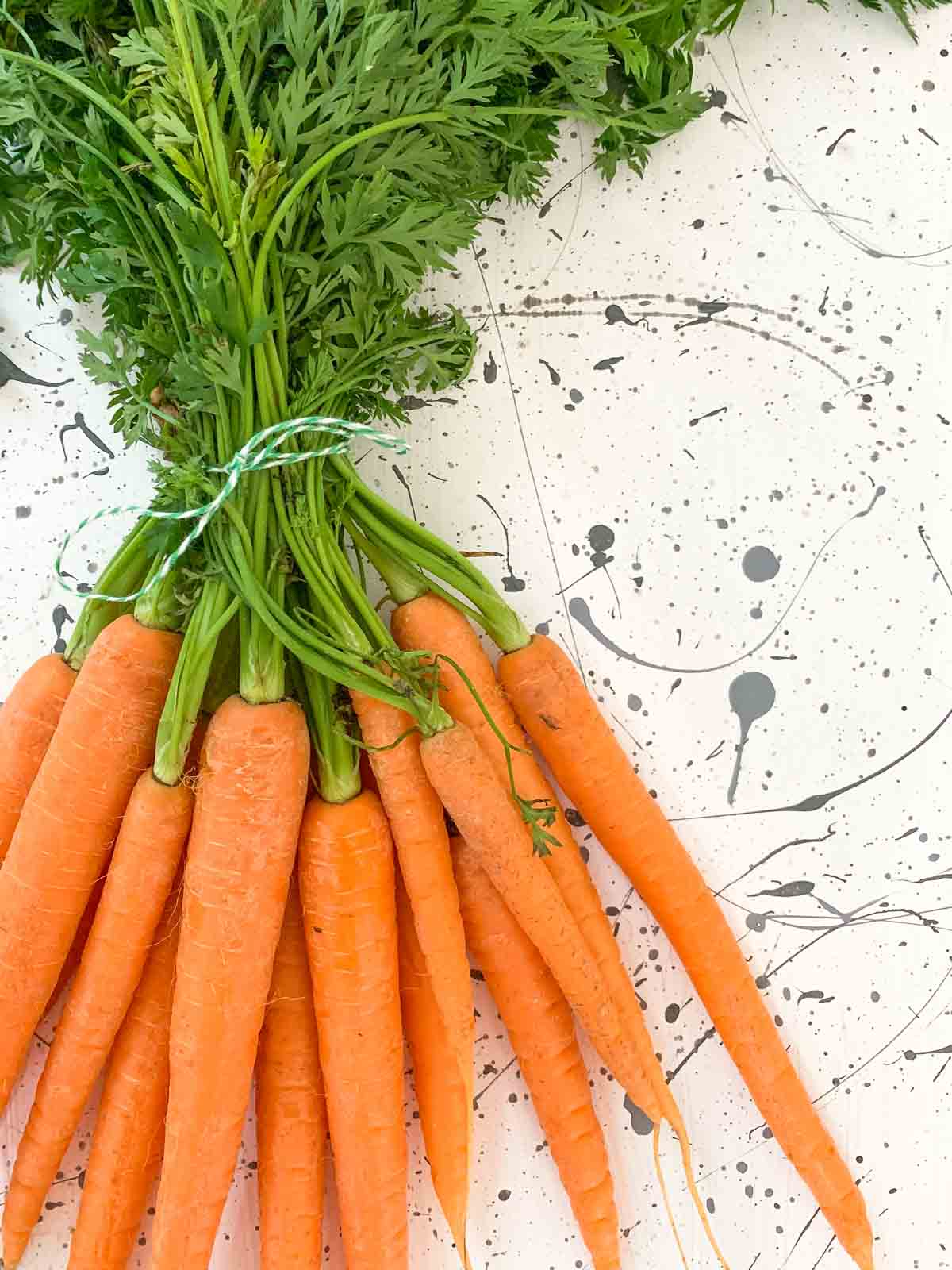 Bunch of Dutch carrots