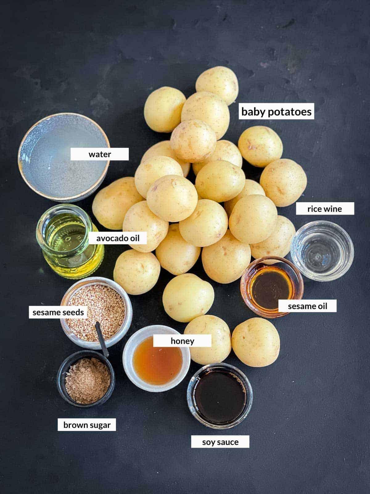 Korean Braised Potatoes - Gamja Jorim (감자조림) Ingredients