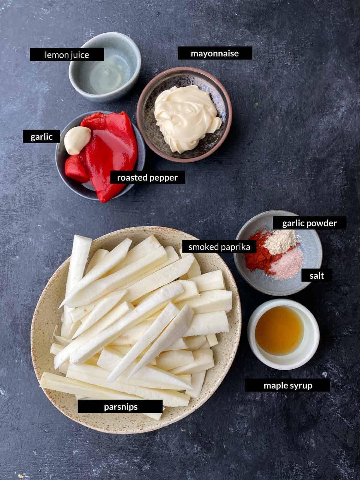 Air Fryer Parsnip Fries Ingredients