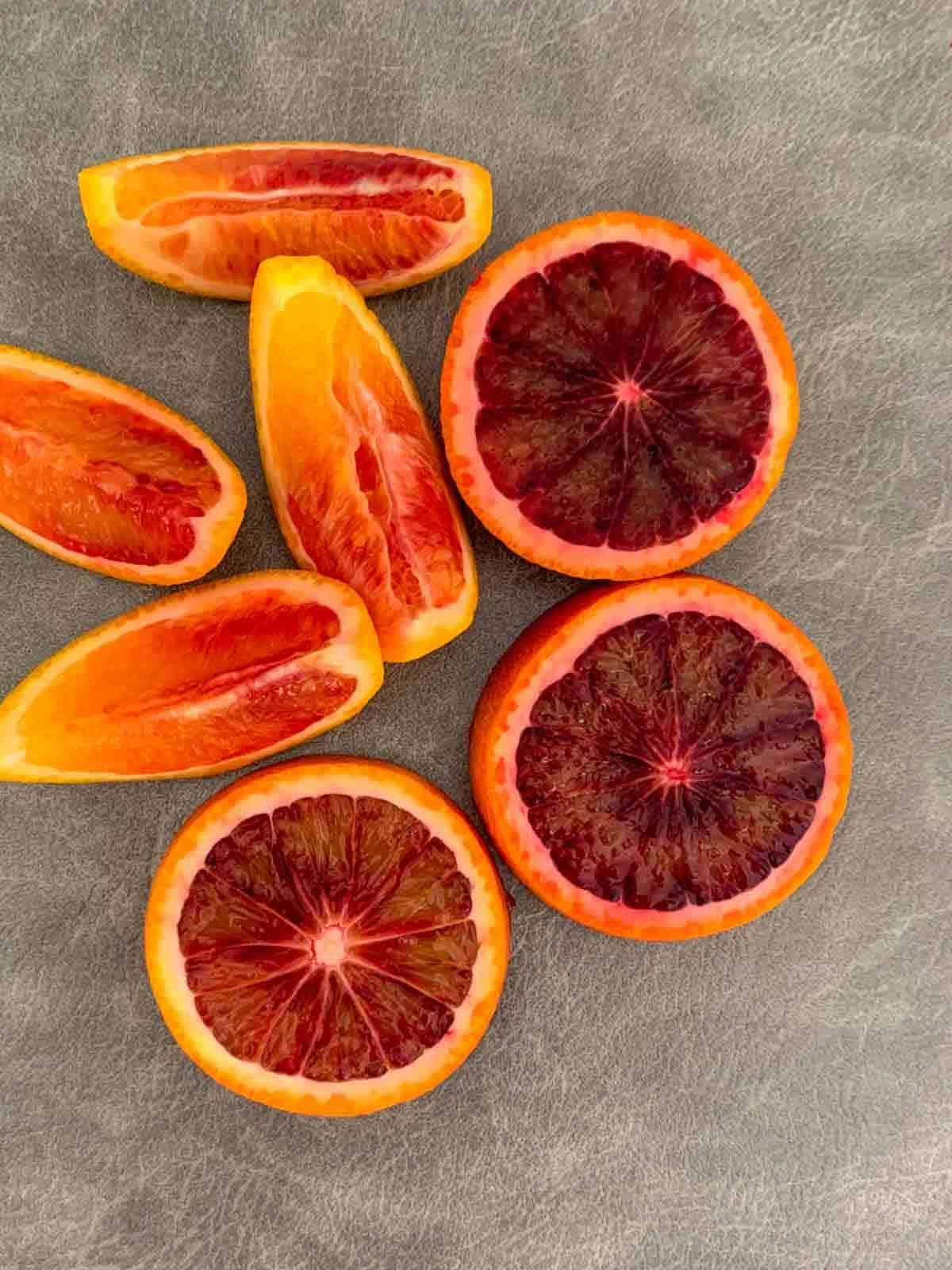 How to cut blood oranges