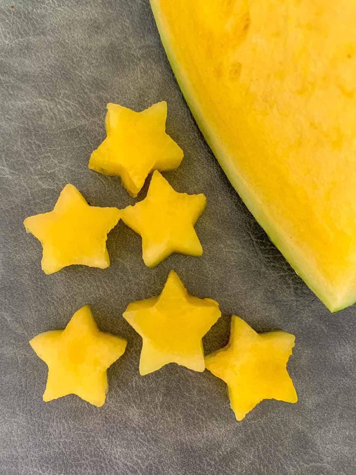 Star shaped yellow watermelon