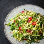 Pak Choy Salad with Coriander Lime Dressing