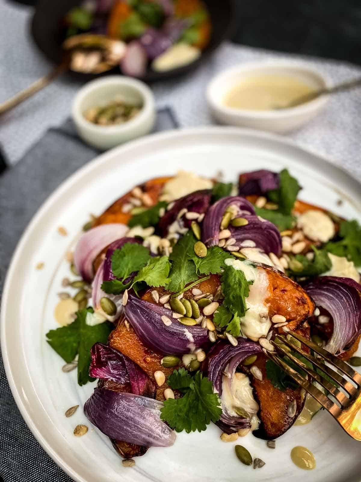 Roasted Spiced Pumpkin Salad Recipe